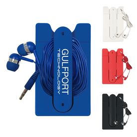 Promotional Ear Buds And Phone Wallet Kit