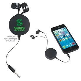 Custom Compact Retractable Ear Buds