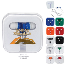 Promotional Ear Buds In Travel Case