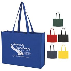 Promotional Non-Woven Shopper Tote With Velcro Closure