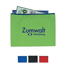 Custom Non-Woven Document Sleeve With Zipper