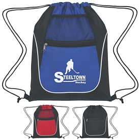 Custom Drawstring Sports Pack With Dual Pockets