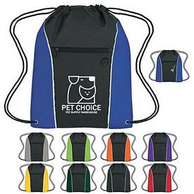 Custom Vertical Sports Drawstring Pack