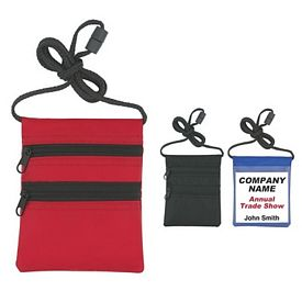 Promotional ID Holders: Promotional Neck wallet-Badge Holder with Neck Cord