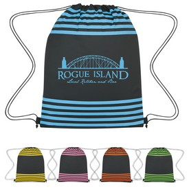Customized Striped Drawstring Sports Pack