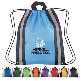 Promotional Small Reflective Hit Sports Drawstring Backpack