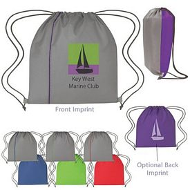 Custom Fun Style Reversible Sports Drawstring Backpack