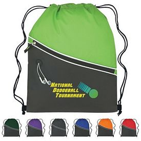 Customized Fun Style Two-Tone Sports Drawstring Pack