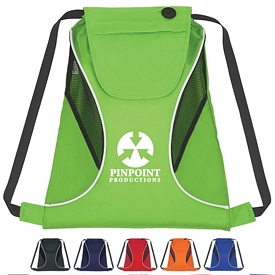 Promotional Sports Drawstring Pack With Mesh Sides