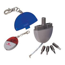 Custom 3 In 1 Tool Kit Tape Measure And Screw Driver Key Chains
