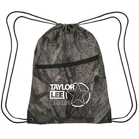Custom True Timber Zipper Drawstring Sports Pack
