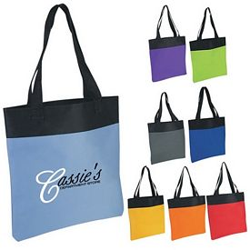 Promotional Tote Bags: Promotional Shopper Two-Tone Tote Bag