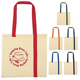 Promotional Striped Economy Cotton Canvas Tote Bag