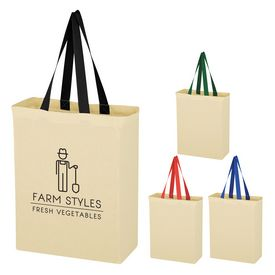 Promotional Natural Cotton Canvas Grocery Tote Bag