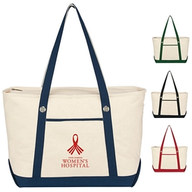Custom Large Cotton Canvas Sailing Tote Bag