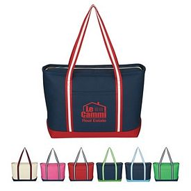 Custom Large Cotton Canvas Admiral Tote Bag