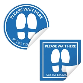 Customized 11-Inch Indoor Floor Sticker For Social Distancing