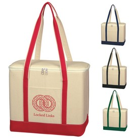 Promotional Large Cotton Canvas Kooler Bag