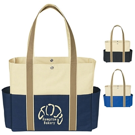 Promotional Tri-Color Tote Bag