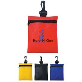 Promotional Non-Woven Zippered Clip on Travel Pouch