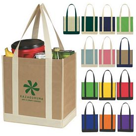 Promotional Nonwoven Two-Tone Shopper Tote Bag