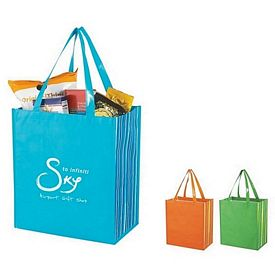 Customized Shiny Laminated Non-Woven Tropic Shopper Tote Bag