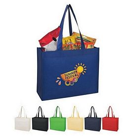 Custom Matte Laminated Wide-Mouth Non-Woven Shopper Tote Bag