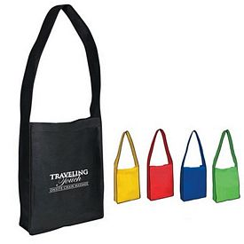 Custom Non-Woven Messenger Tote With Velcro Closure