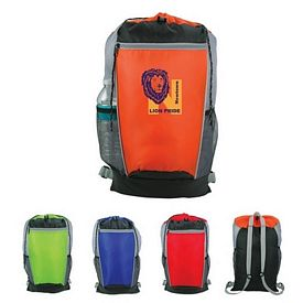 Promotional Tri-Color Drawstring Backpack