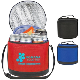 Promotional Cans-To-Go Non-Woven Round Kooler Bag