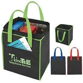 Promotional Insulated Drawstring Shopper Tote Bag