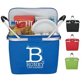 Promotional Picnic Fun Collapsible Kooler Basket
