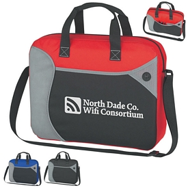 Promotional Wave Briefcase Messenger Bag