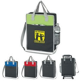 Promotional Vertical Messenger Tote Bag