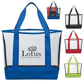 Custom Clear Casual Stadium Carry Tote Bag
