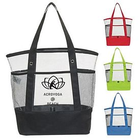 Promotional 23 Handle Clear Pocket Tote Bag