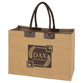 Customized Padded Handle Jumbo Jute Tote Bag