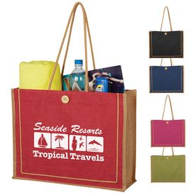 Custom Paradise Jute Tote Bag