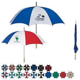 Customized 60 Golf Umbrella With Wooden Handle
