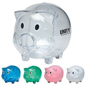 Custom Plastic Piggy Bank