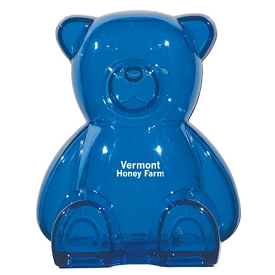 Promotional Coin Banks: Promotional Plastic Bear Shape Bank