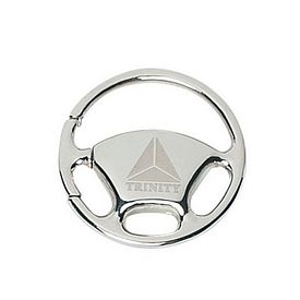 Promotional Key Chains: Promotional Wheel Silver Key Chain
