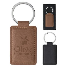 Promotional Leatherette Executive Key Tag