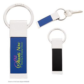 Custom Two-Tone Rectangle Key Tag