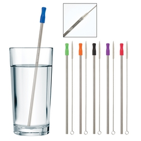 Promotional Stainless Steel Straw With Cleaning Brush
