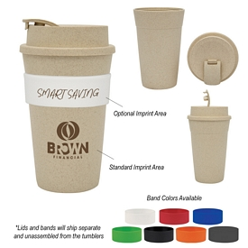 Promotional 16 Oz Wheat Travel Tumbler