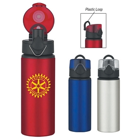 Promotional 25 Oz Aluminum Sports Bottle With Flip Top Lid