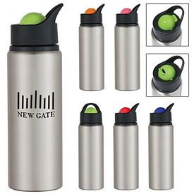 Promotional 24 oz. Aluminum Orbit Bottle - CLOSEOUT ITEM