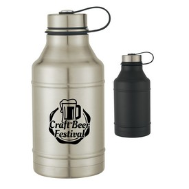 Customized 64 Oz Stainless Steel Wide-Mouth Growler