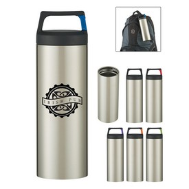 Promotional 18 Oz Rover Stainless Bottle With Carabiner Clip